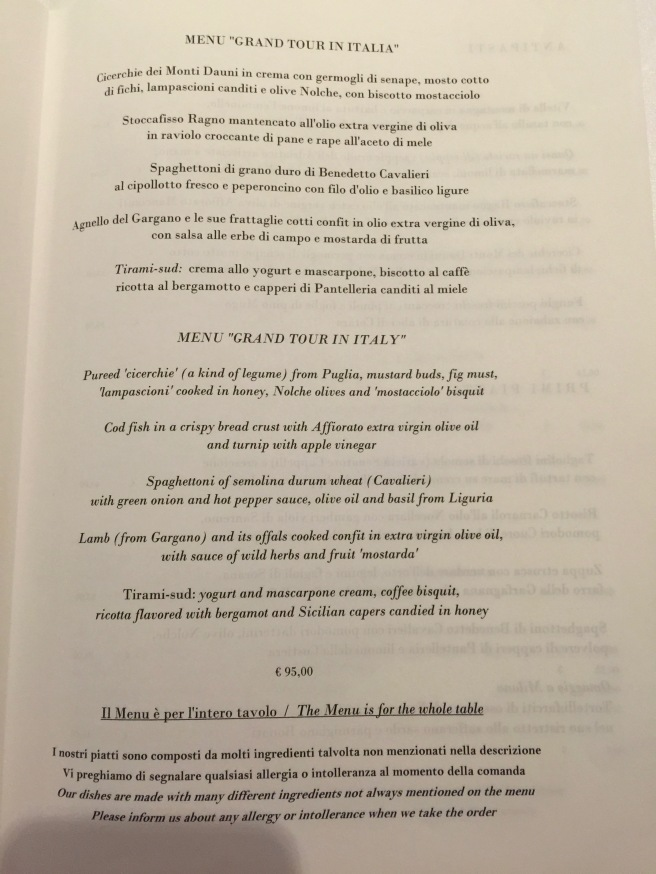 more tasting menus