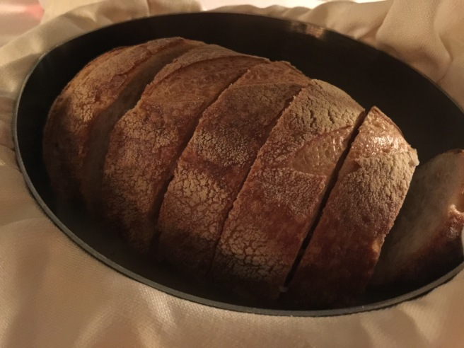 warm sourdough bread