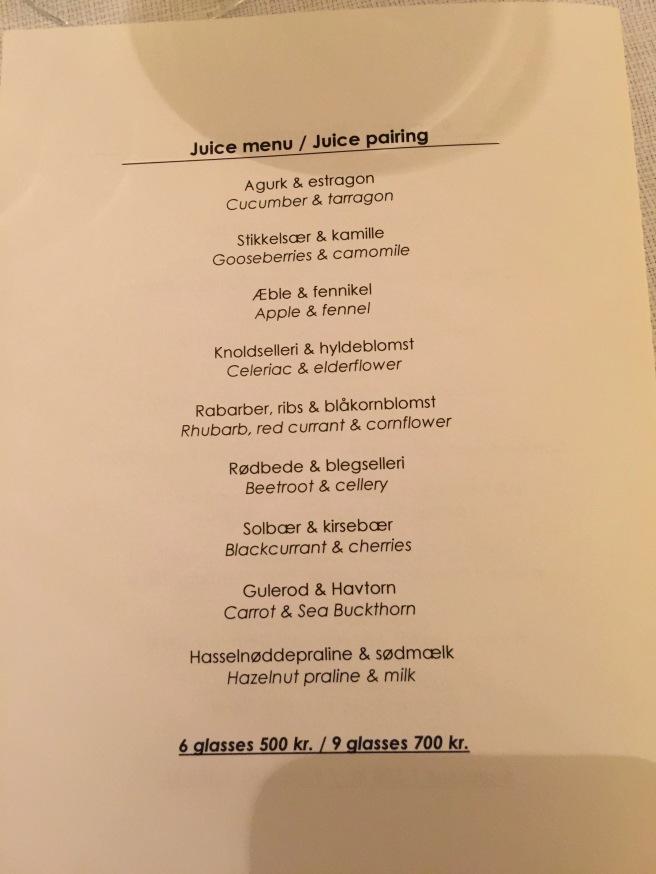 juice pairings