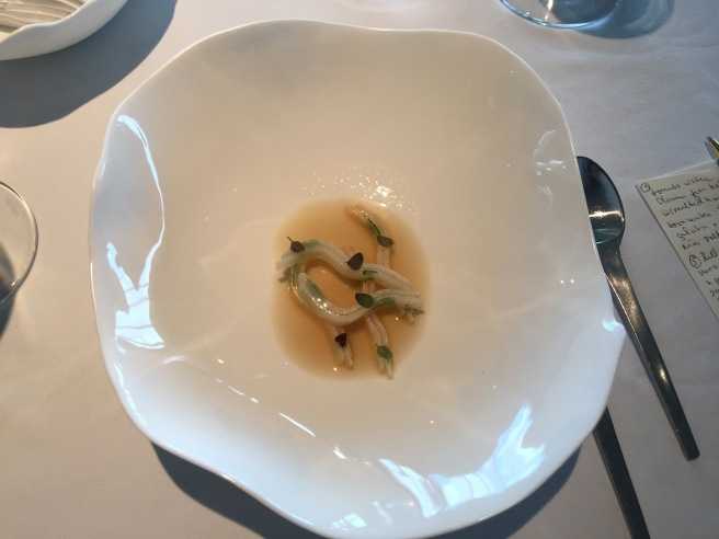 Celeriac, scallop and dried trout (separate picture)