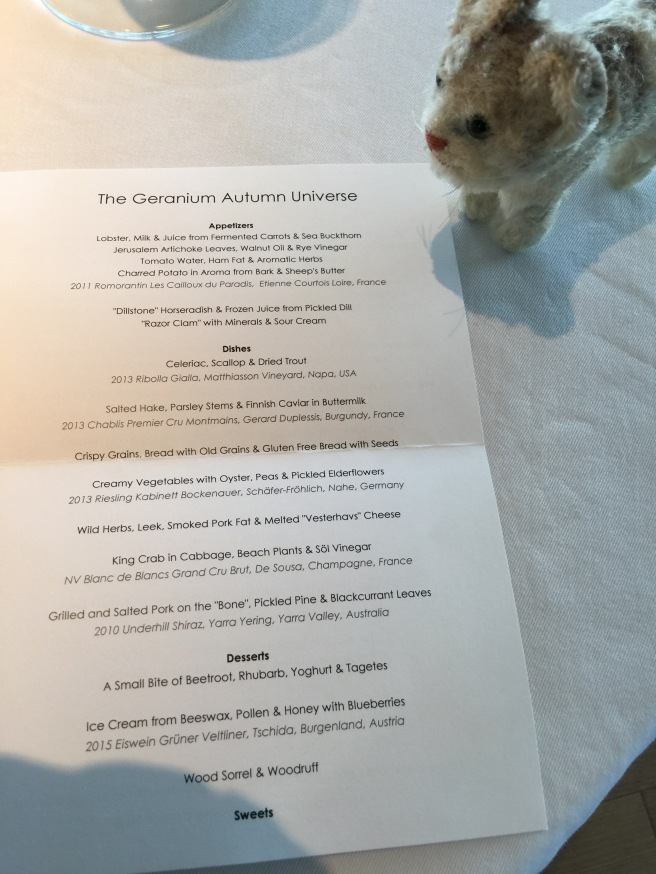 Frankie looked at the menu