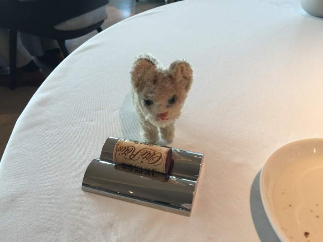 Frankie checked out the cork holder