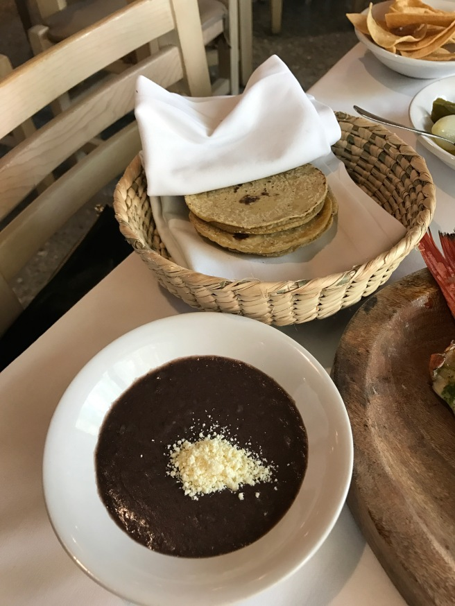 Beans and tortillas