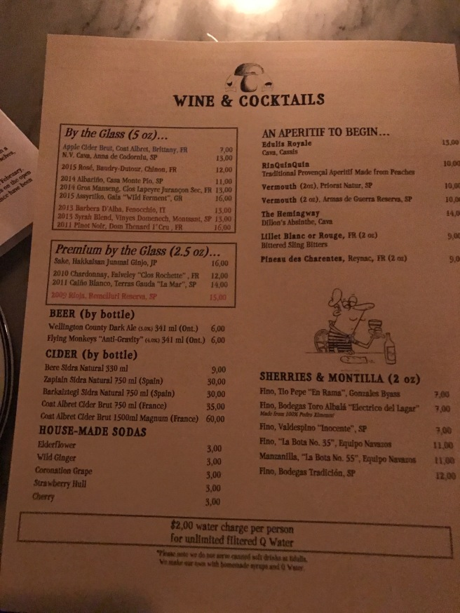 wine and cocktails