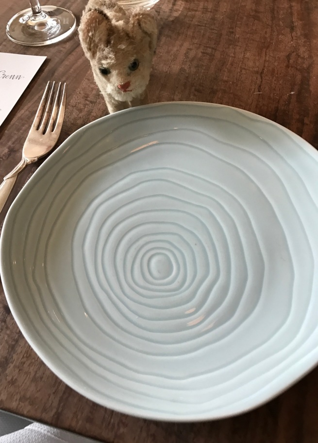 Frankie was fascinated with the plate