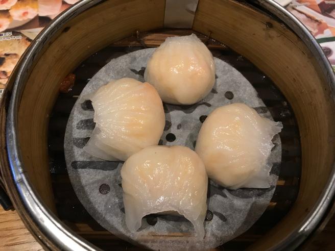 Har Gow: steamed shrimp dumplings