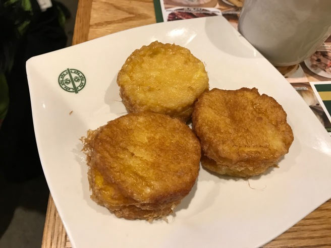 French toast with custard Tim Ho Wan style