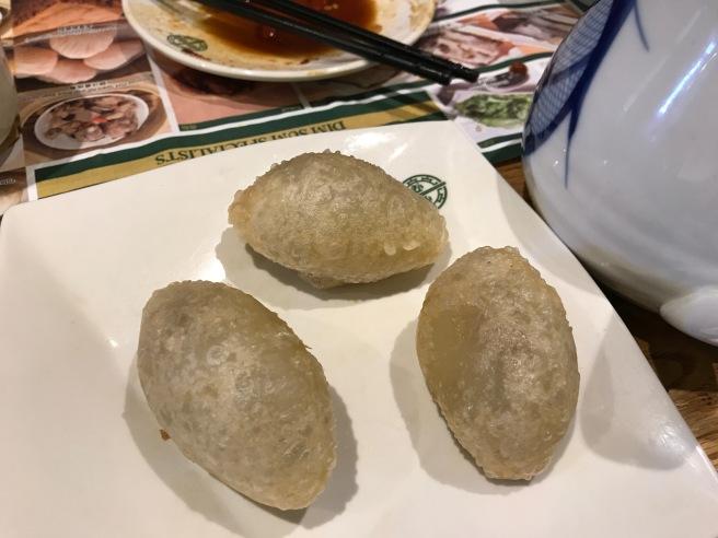 Deep fried dumplings with pork and shrimp