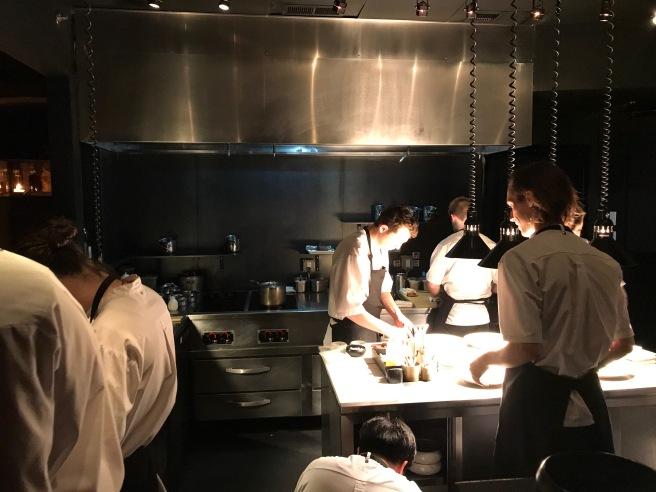 kitchen hard at work