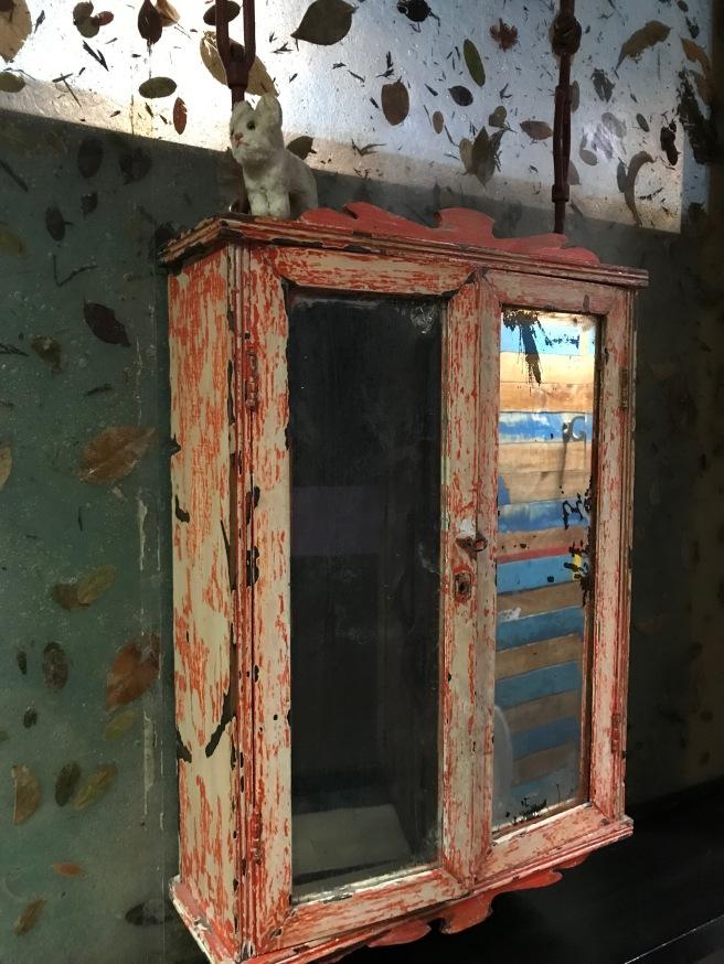 Frankie found a little cabinet