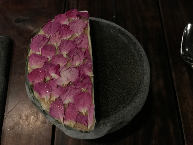 Bitter plants from Atacama dessert ice brulée