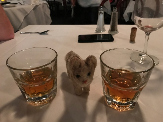 Frankie likes an after dinner drink