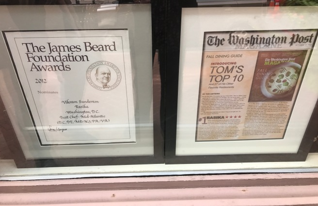 Awards in the window