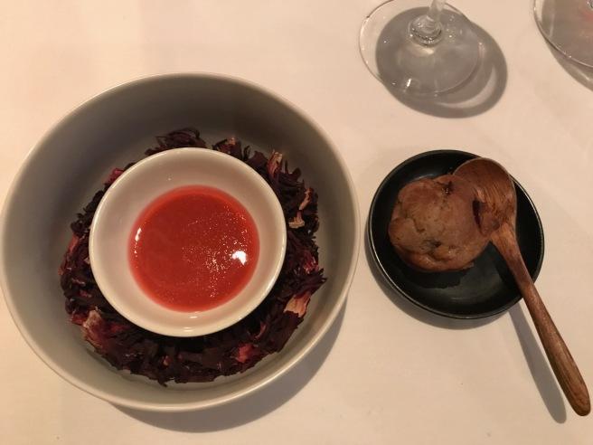 foie gras, nectarine