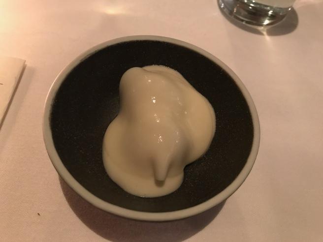 Pocha bean, infused cream, tomato