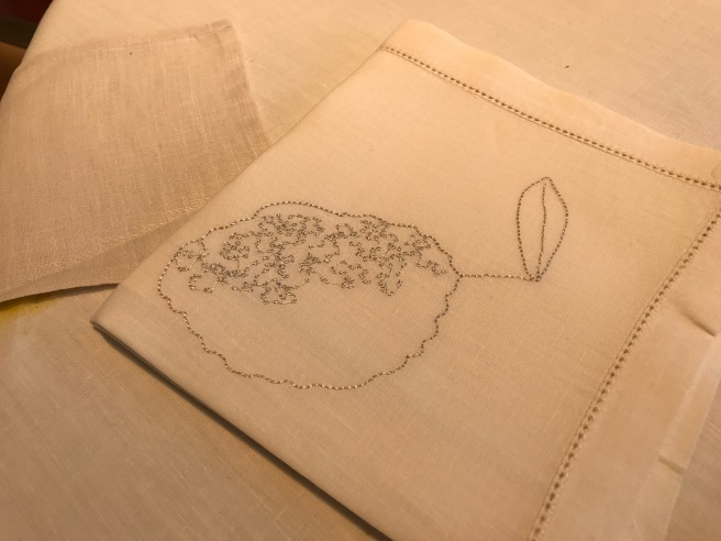 embroidered dessert napkins