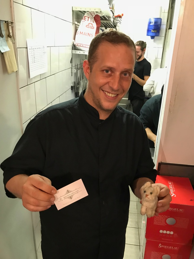 Chef Mickaël Tourteaux and Frankie