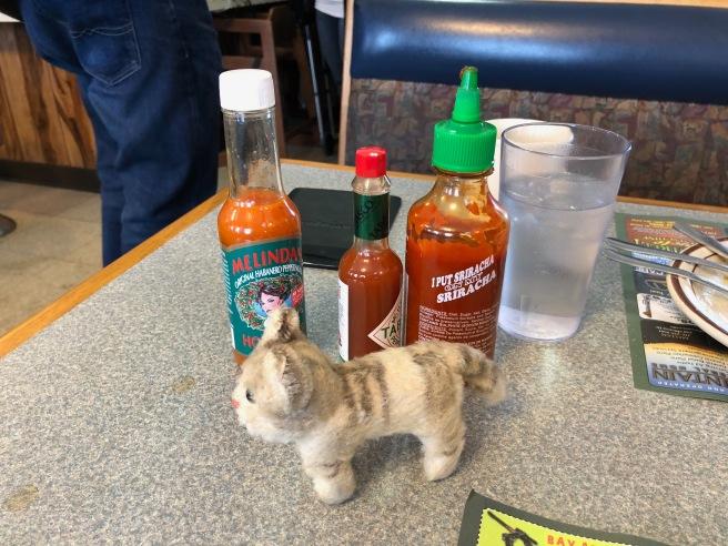 Frankie likes hot sauce
