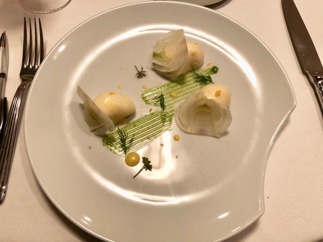 Crevette/fenouil/agrume: Shrimp/fennel/citrus