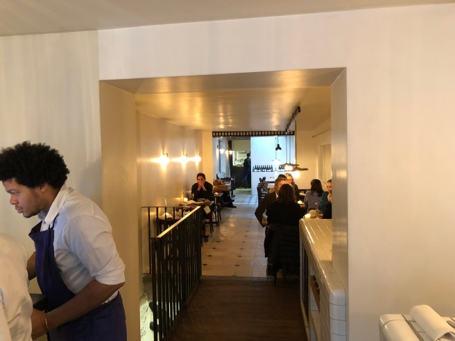looking into the restaurant from the bar area