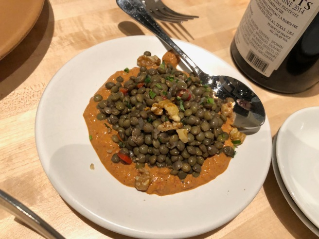 French lentils, muhamarra, piquillo peppers, walnuts