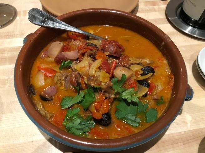 Catalon style stew, lamb belly, ribs, shoulder, potatoes, olives, saffron