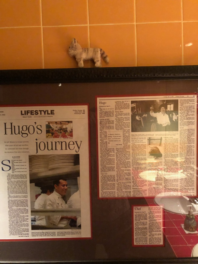 Frankie posed with the clippings