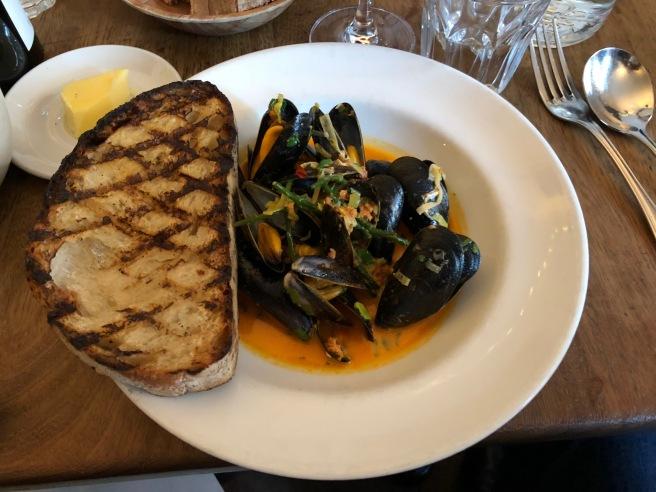 Mussels, samphire, nduja and leek