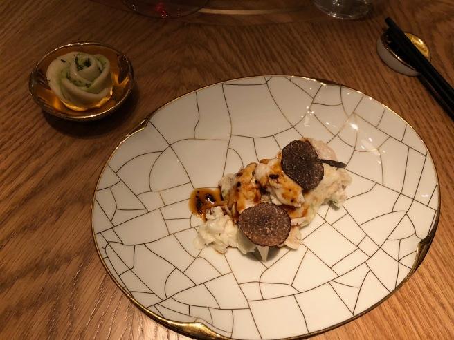 Velvet Chicken: Black Truffles, Matsutake Mushroom, Soya Veal Jus