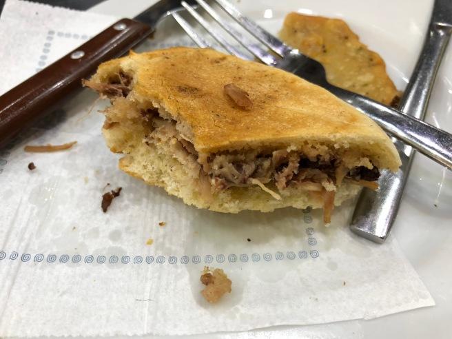 inside sandwich