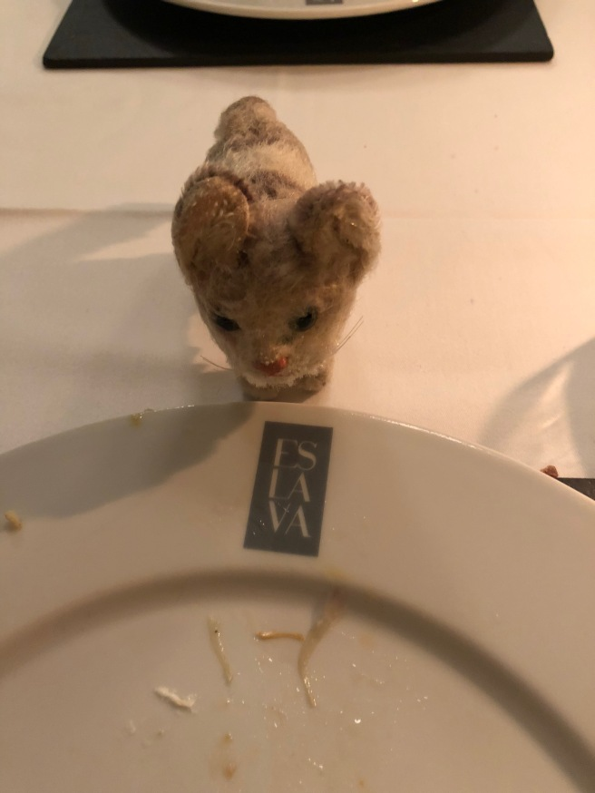 Frankie studied the plate logo