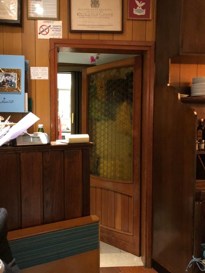 door to kitchen