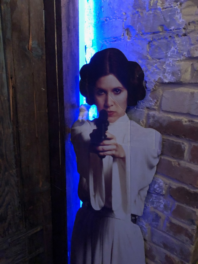 Frankie met Princess Leia