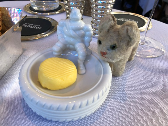 Frankie liked the tire shaped butter dish
