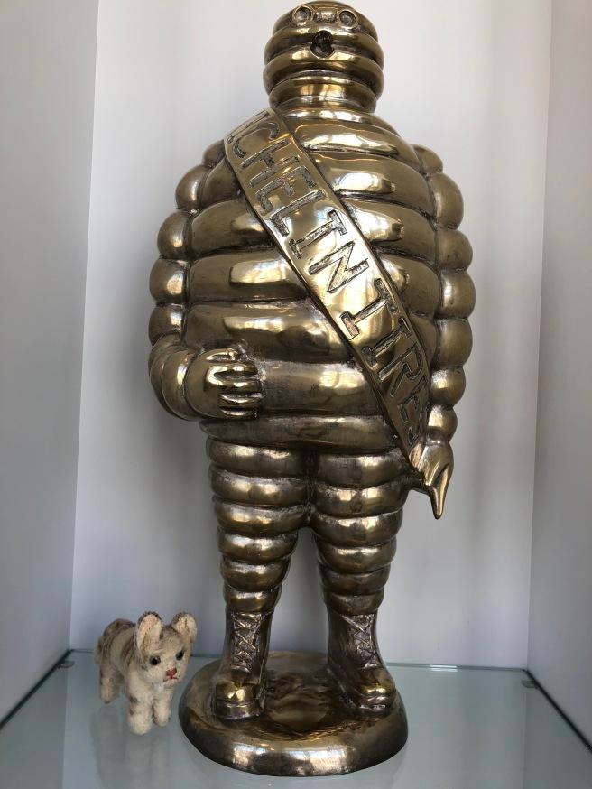 Frankie found a big Michelin man
