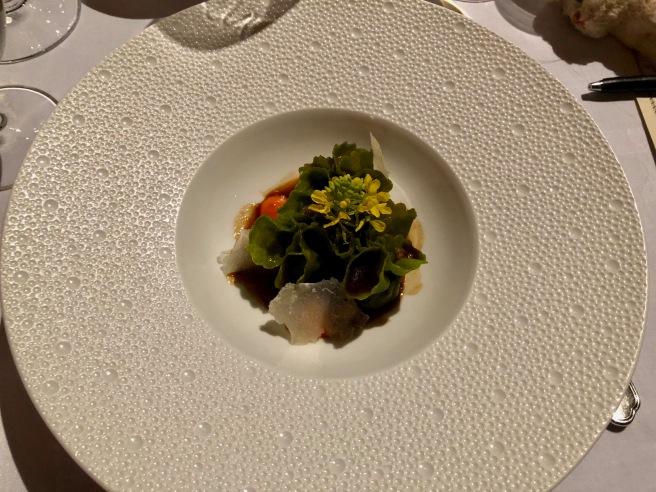 Lamb filled spinach saccottini with Pecorino Riserva adn Piquillo mustard