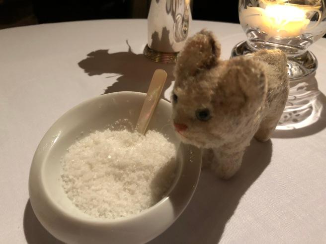 Frankie inspected the salt