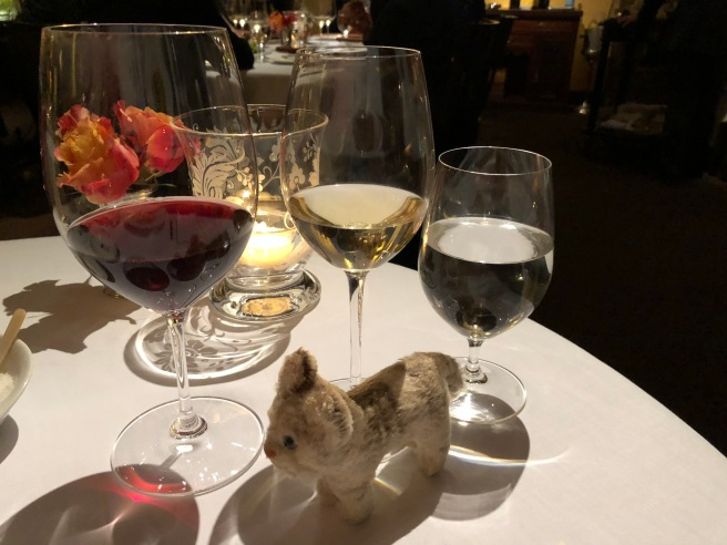 Frankie wanted to try different wines with each course