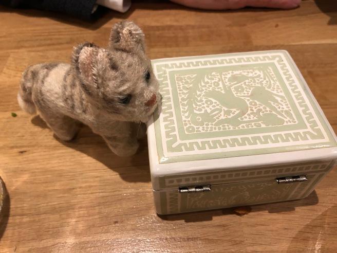 Frankie found another fancy box