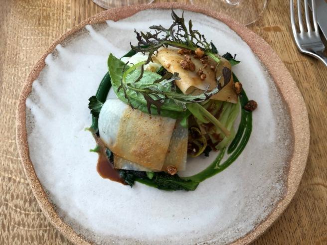 Roasted cabbage and Hazelnut praline dressing