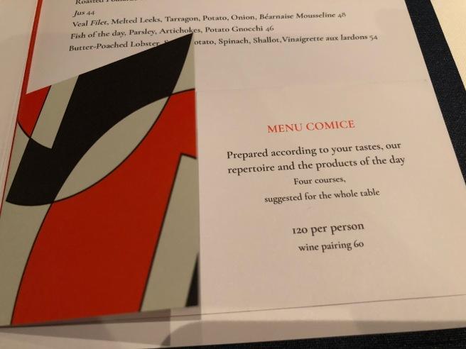 Tasting menu (English)