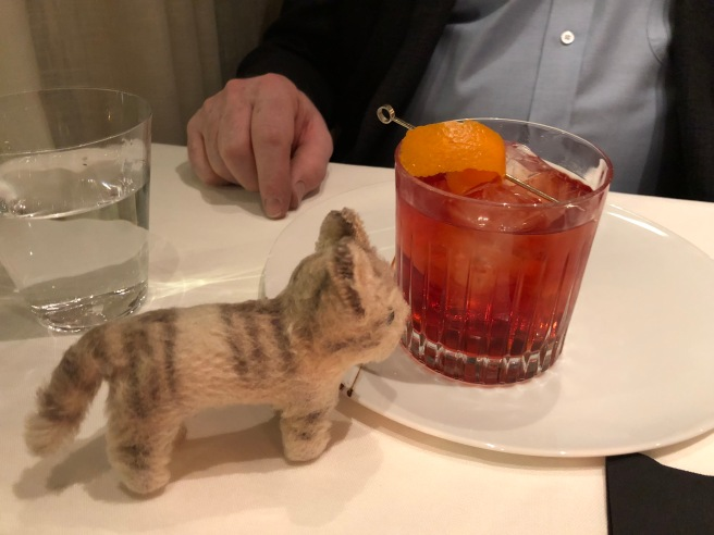 Frankie nosed the negroni