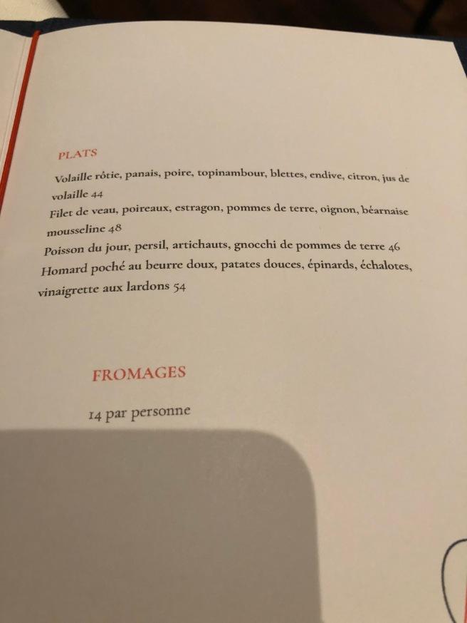 Menu 2 (French)