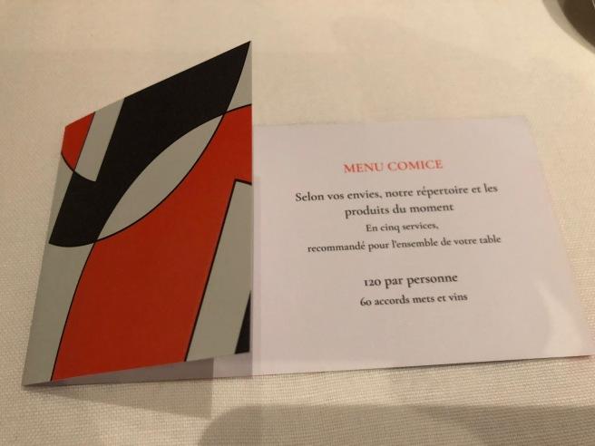Tasting menu (French)