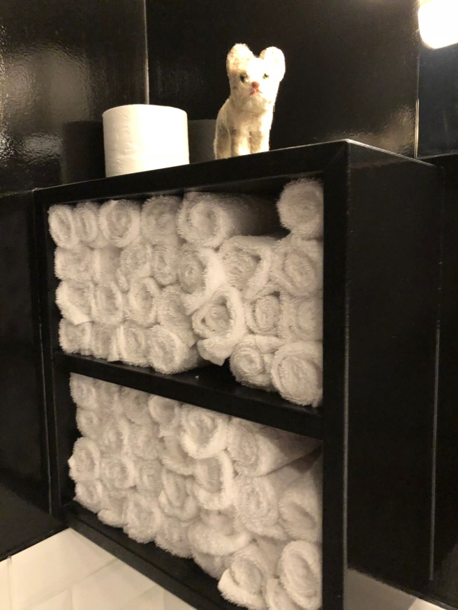 Frankie liked all the fluffy handtowels