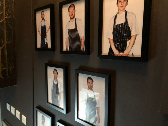 chef photos on the stairs