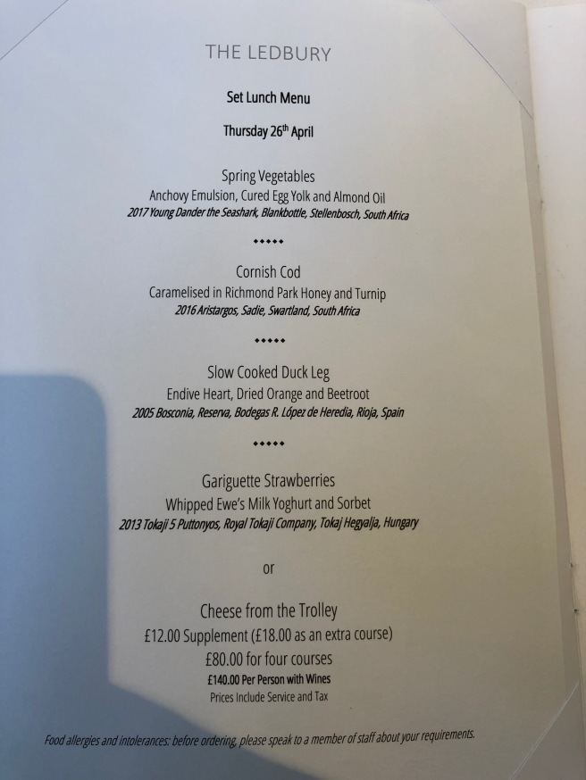 lunch set menu