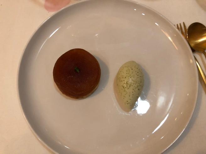 Caramelised apple, douglas fir