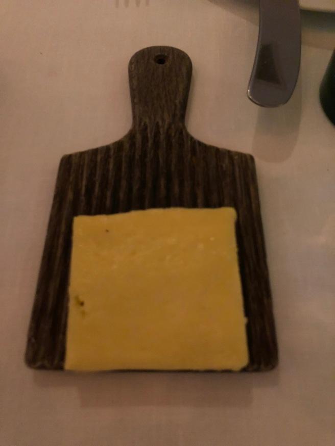 butter served on a gnocchi roller