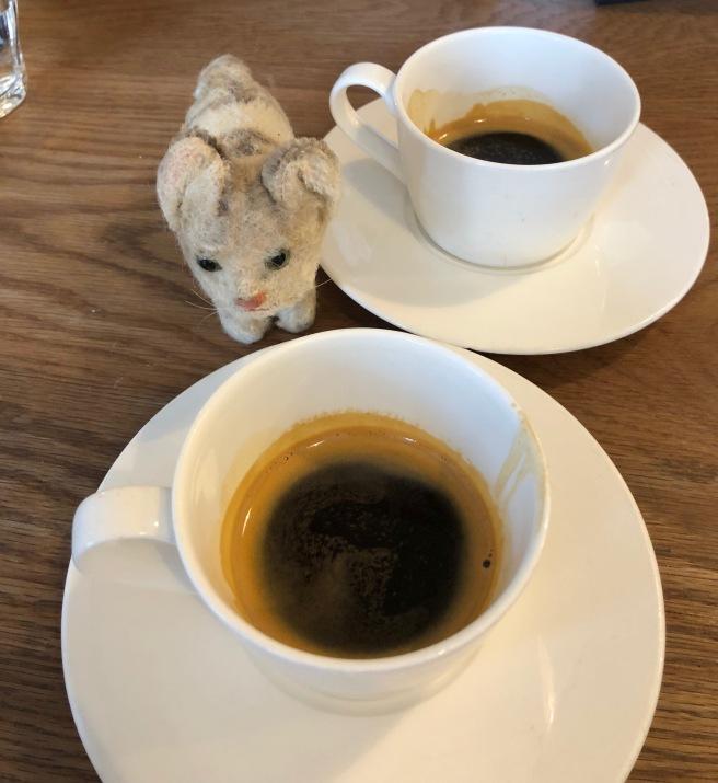 Frankie had a coffee